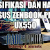 Spesifikasi dan Harga ASUS ZenBook Pro UX550 Laptop Ultra Harga Murah
