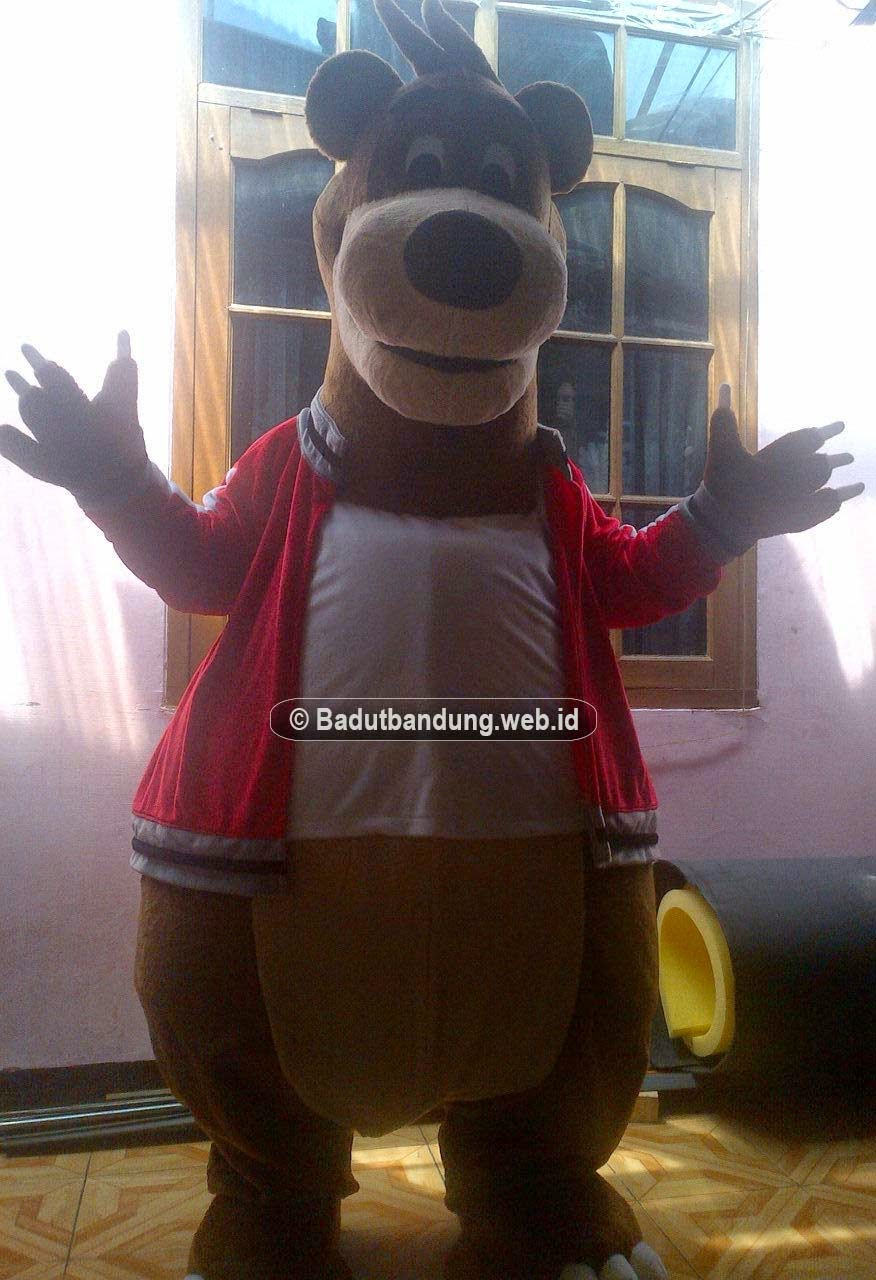gambar badut maskot kostum beruang semarang