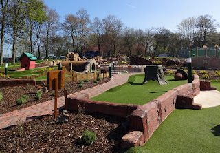 Haigh Woodland Park Adventure Golf course in Wigan
