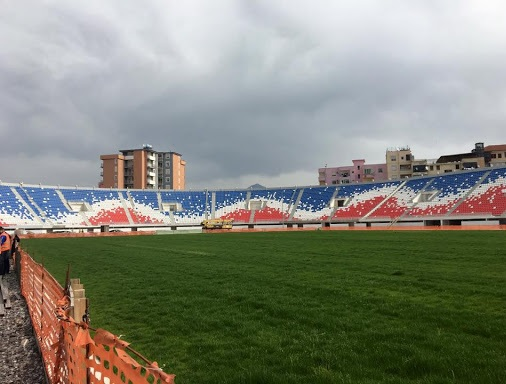 Loro Borici stadium reconstruction being inspected by UEFA representatives