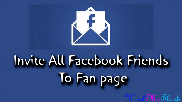 Invite All Friends to Facebook Page at Once