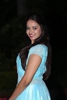 Pujita Ponnada in transparent sky blue dress at Darshakudu pre release ~  Exclusive Celebrities Galleries 081.JPG