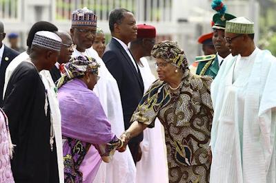 Buhari receives Liberian President, Ellen Johnson Sirleaf in Abuja