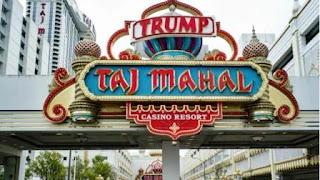 El Trump Taj Mahal es el último de los tres casinos que el magnate inmobiliario construyó en Atlantic City (AP)