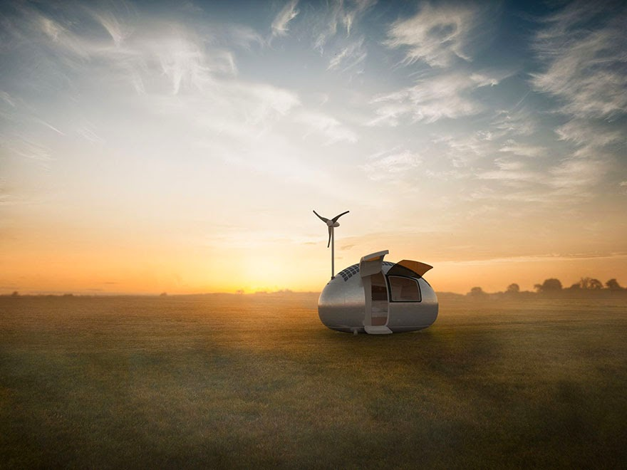 In 2016 you will be able to live off the grid in one of these Ecocapsules - Tiny Wind & Solar Powered Home Lets You Live Off The Grid Anywhere In The World