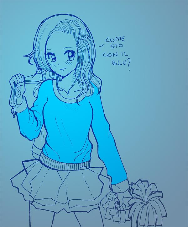 Favorito Il Disegno: Qualche prova con le matite blu e quelle nere. GU23