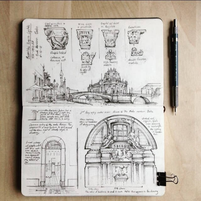 01-Bode-Museum-in-Berlin-Jerome-Tryon-Moleskine-Book-with-Sketches-and-Notes-www-designstack-co