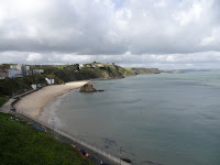 stunning beach view of welsh sea side