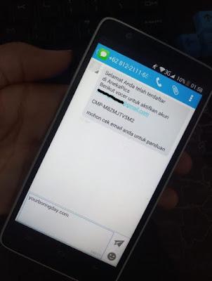 SMS dari AnekaPics.com