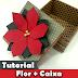 Como fazer Caixa   Flor de Natal   Poinsettia   Scrap decor   Tutorial   Origami