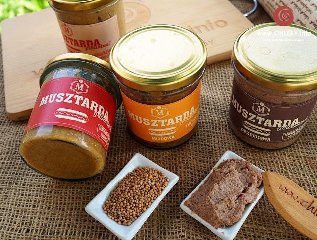 Musztardy w czterech smakach: tradycyjna, miodowa, chrzanowa i orzechowa
