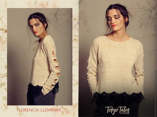 Moda otoño invierno 2016 tejidos invierno 2016 Florencia Llompart.