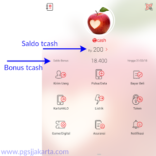 Aplikasi Tcash Telkomsel Cashback 20% Pengisian Pulsa