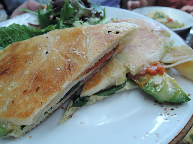 57 cafe;  toasted focaccia, lunch