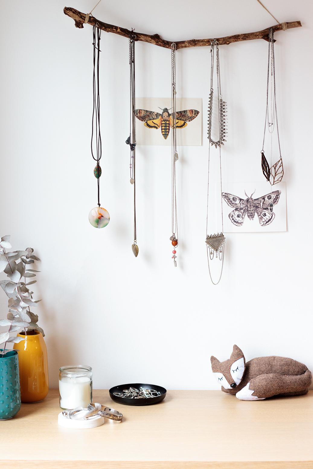 Expositor para colares DIY