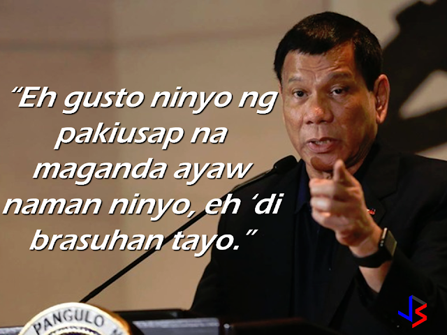 President Rodrigo once again warned Bureau of Customs and Bureau of Immigration officials not to open the balikbayan boxes sent by the OFWs to their loved one. In a speech in Cagayan de Oro City, he warned that he will relieve the officials  that will be involved in extortion and theft of the OFWS hard earned balikbayan boxes. He cited and strongly opposed the special treatment on government officials, skipping baggage screening, while the OFWs undergo strict inspection at the NAIA.  He also warned Customs and Immigrations  personnel that if anyone would make a mistake in their respective outfits, everyone will be relieved of their posts.   President Duterte reiterated that he has already prohibited the opening of balikbayan boxes sent by Filipino workers abroad which contains goods that the OFWs saved  over the months for their family back home.  He noted that after passing the initial x-ray screening,these items must not be subjected to random or arbitrary physical inspection.    Source: Manila Bulletin RECOMMENDED:       ©2017 THOUGHTSKOTO