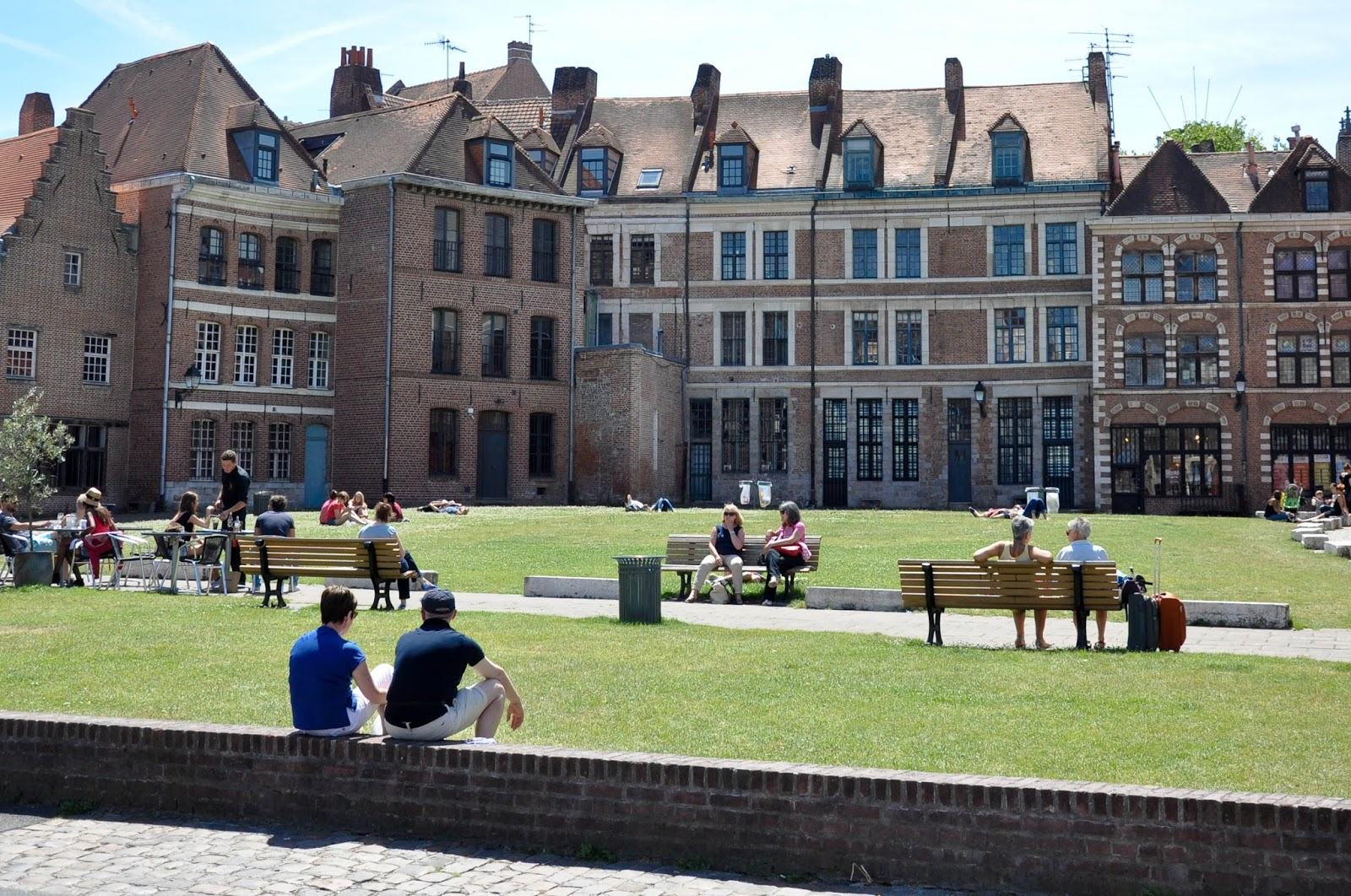 Sunlit square, Lille, France