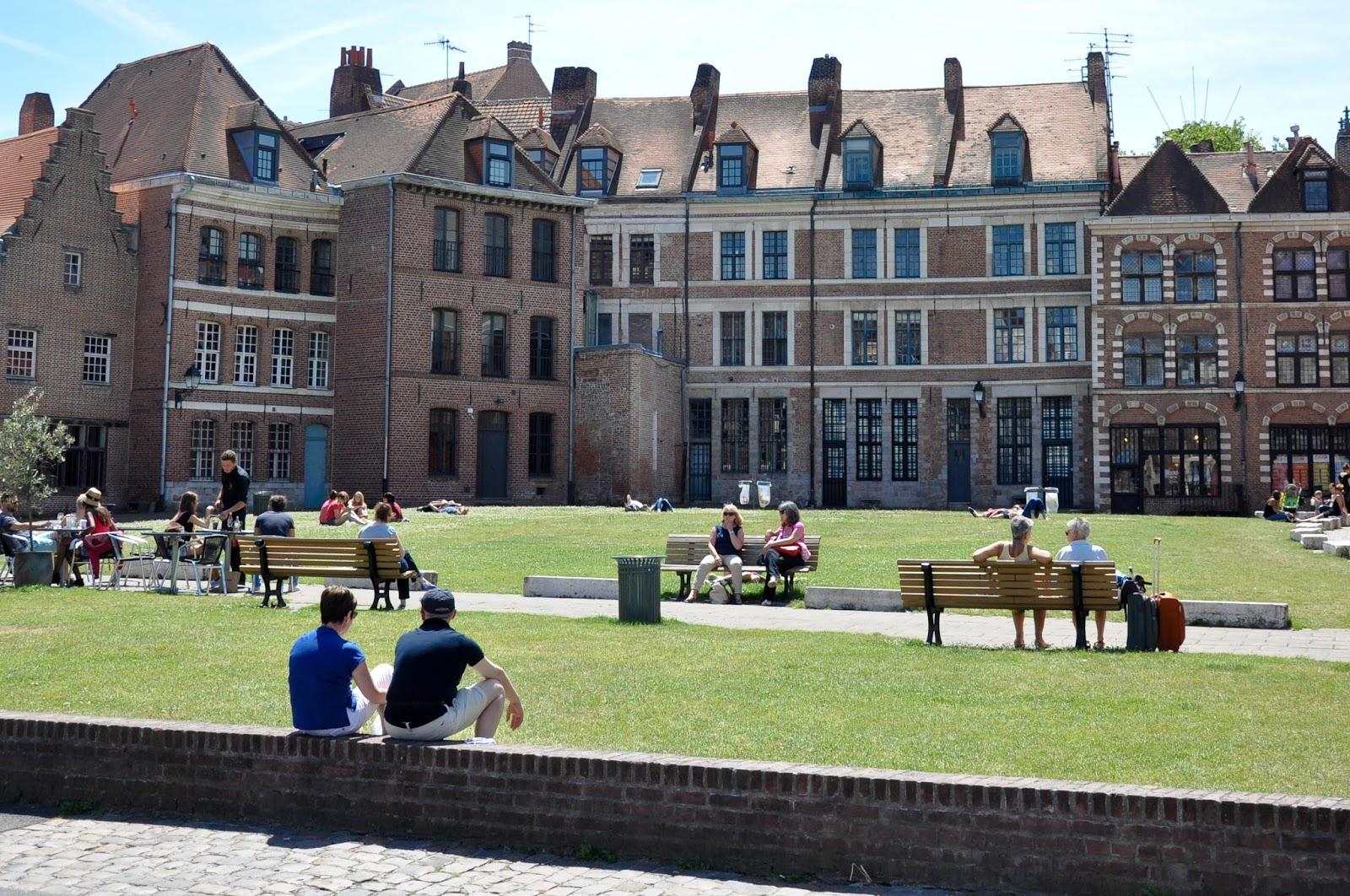 Sunlit square, Lille, France