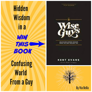 Hidden Wisdom in a Confusing World from a Guy, City on a Hill, Wise Guys, Kent Evans, Book Review, Fly By Promotions, Giveaway, Via Bella