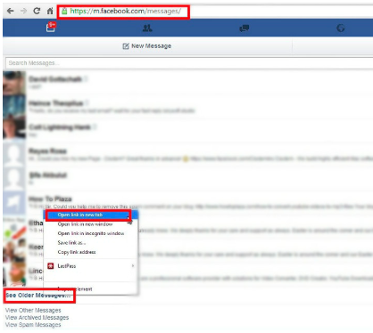How To Load Older Messages On Facebook<br/>