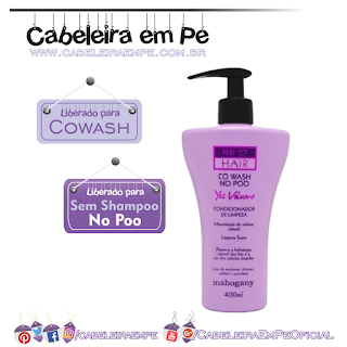 Condicionador De Limpeza Cowash No Poo Perfect Hair - Mahogany (No Poo)