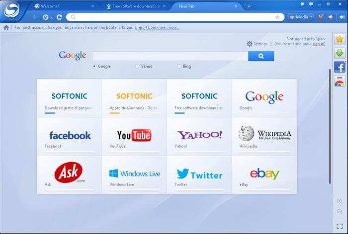 تحميل برنامج متصفح الأنترنت بايدو سبارك Download Baidu Spark