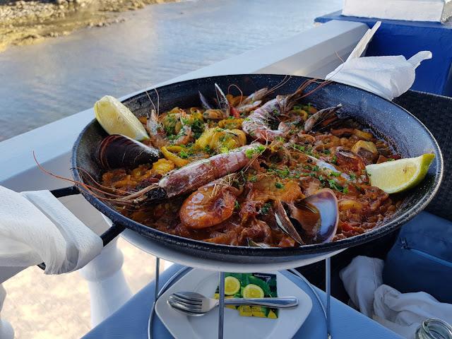 Paella al ristorante La vaca azul a El Cotillo-Fuerteventura