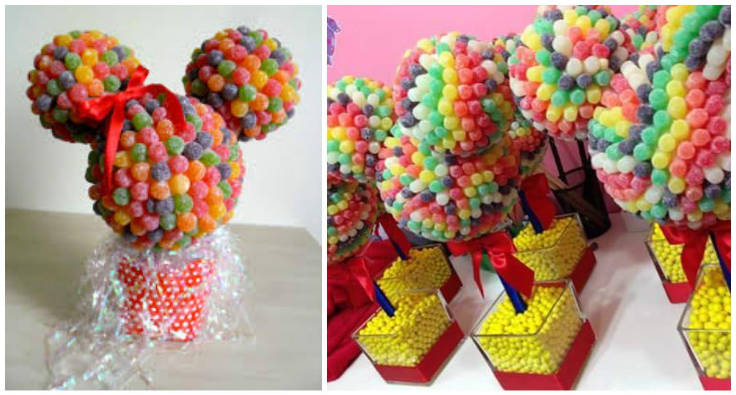 Ideas de manualidades y centros de mesa con gomitas dulces - Centro de mesa navideno manualidades ...