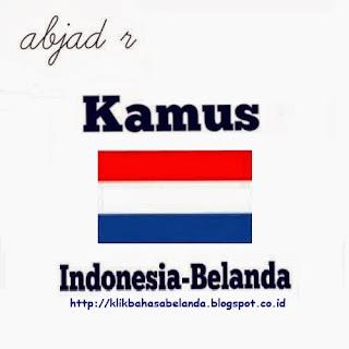 Abjad R, Kamus Indonesia - Belanda
