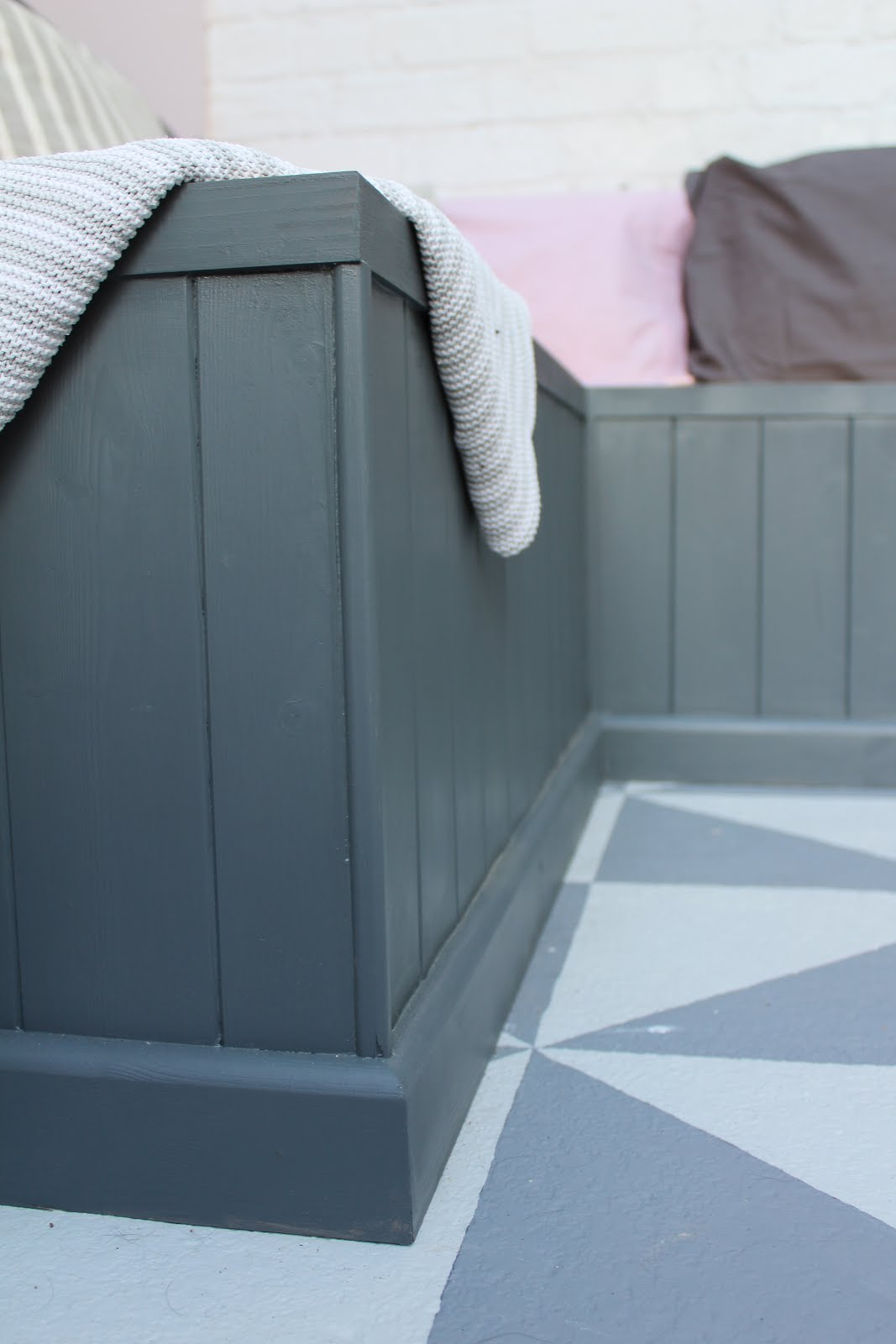 how to build a bespoke storage bench with panelling