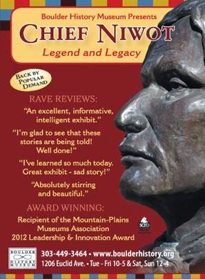 flyer for Chief Niwot exhibit