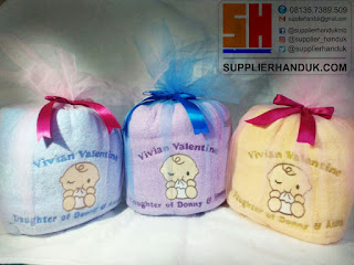 Handuk Bordir Souvenir Kelahiran Bayi - PUSAT HANDUK