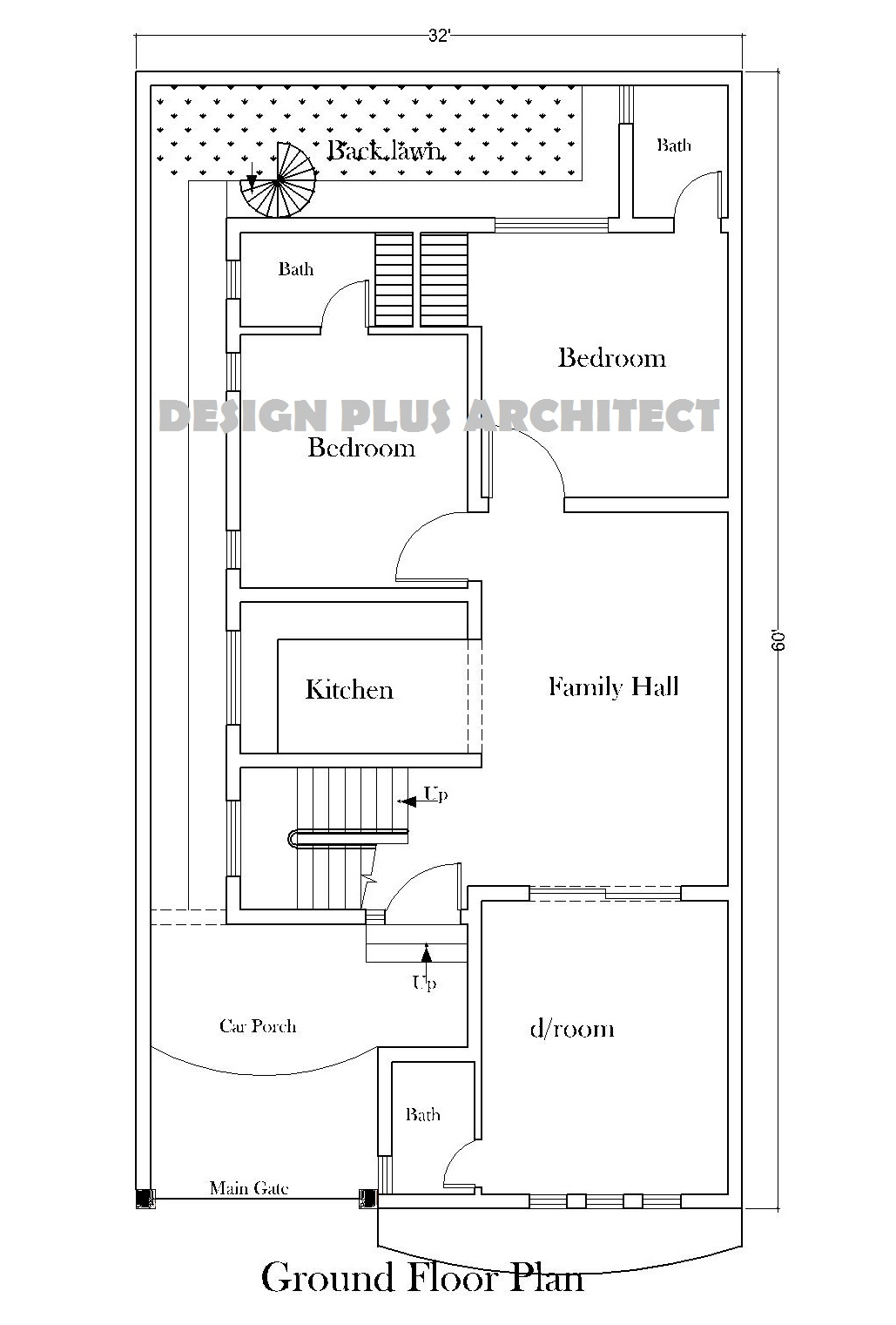 5 Marla House Plan 2d Part 56