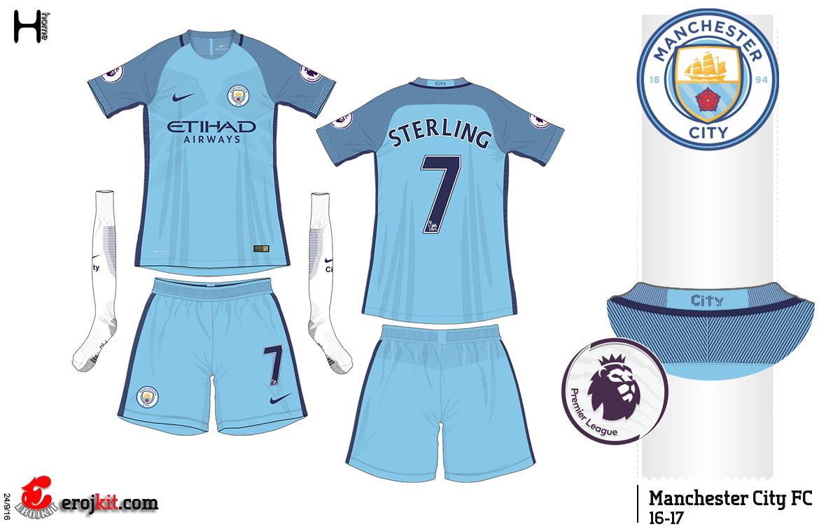 man city uniforme