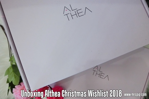 Unboxing My Christmas Gift From Althea