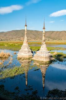 Stupas Lac Sangkar - Inle