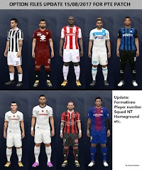 Option File Update Transfer PTE Patch 6.0 #15/08/2017 - PES 2017
