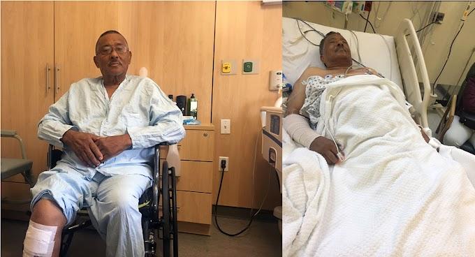 """Taxista dominicano relata cómo se salvó de milagro cuando un carro le dio el """"tablazo"""" que lo puso a  volar"""