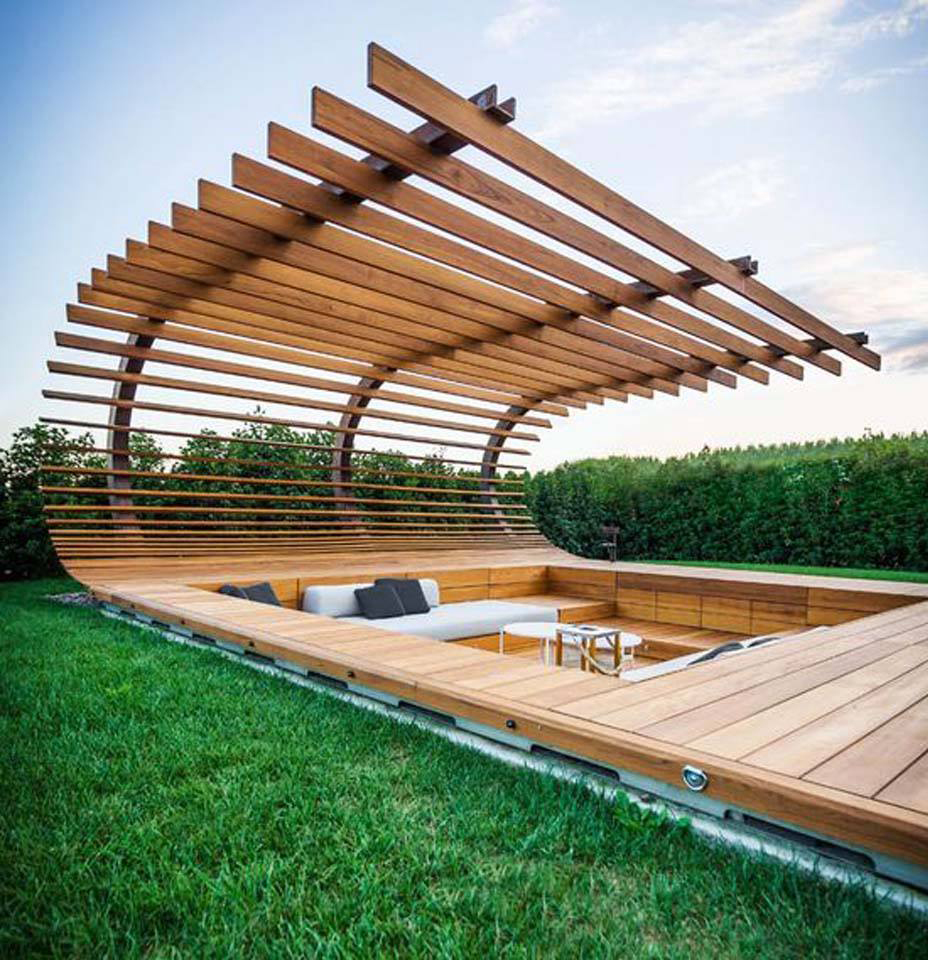 Pergolas y decks de madera construccion y manualidades for Deck madera