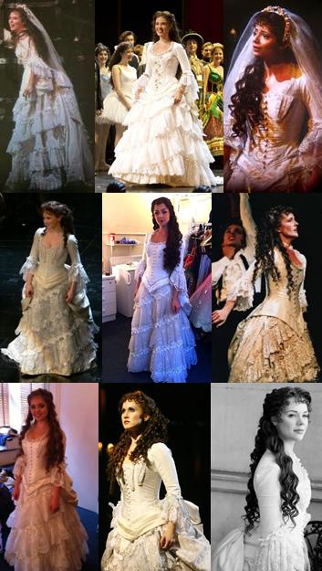 The Theatre Loving Fairy Christine Daae Wedding Dress Collage
