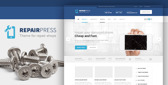 RepairPress v1.3.6 - GSM, Phone Repair Shop WordPress