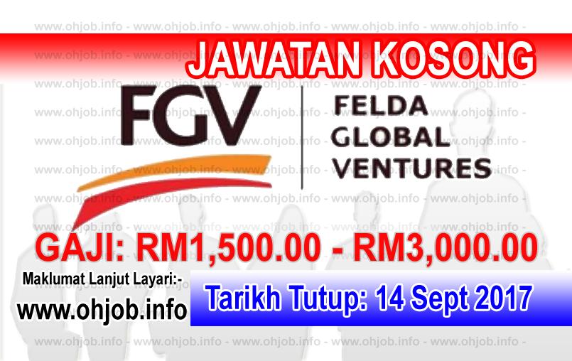 Jawatan Kerja Kosong Felda Global Ventures - FGV logo www.ohjob.info september 2017