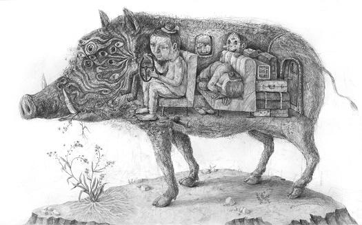 "Stefan Zsaitsits, ""Vergissmeinnicht"", 2018 | pictures, deep feelings, sad, emotional art black and white | imagenes tristes chidas, emociones y sentimientos, depresión, obras de arte contemporaneo, dibujos a lapiz | dessins, zeichnungen"