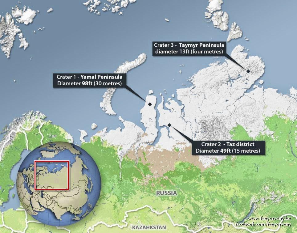 Két újabb hatalmas lyukat fedeztek fel Szibériában