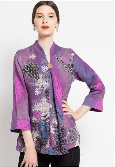 23 Model Baju Batik Atasan Wanita Terbaru Desain Spesial 1000