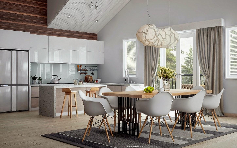 10 salones donde se integra la cocina y el comedor for Comedor y cocina integrados