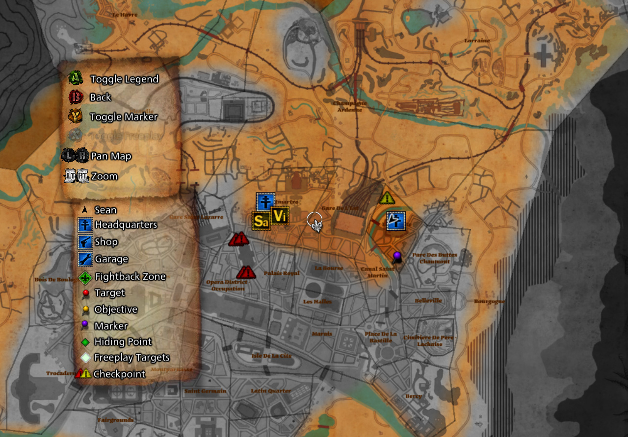 The Saboteur Map Related Keywords & Suggestions - The
