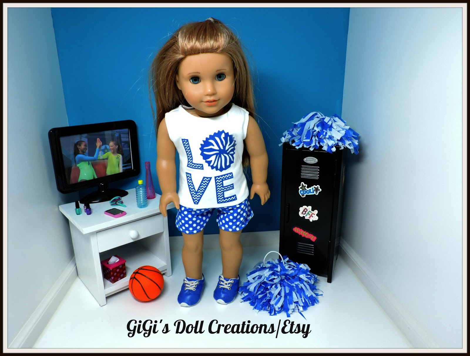 GiGi\'s Doll and Craft Creations: Love Cheer Doll Clothes with Doll ...