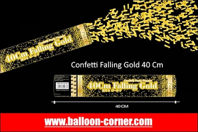Party Popper Falling Gold / Confetti Falling Gold Ukuran 40 Cm