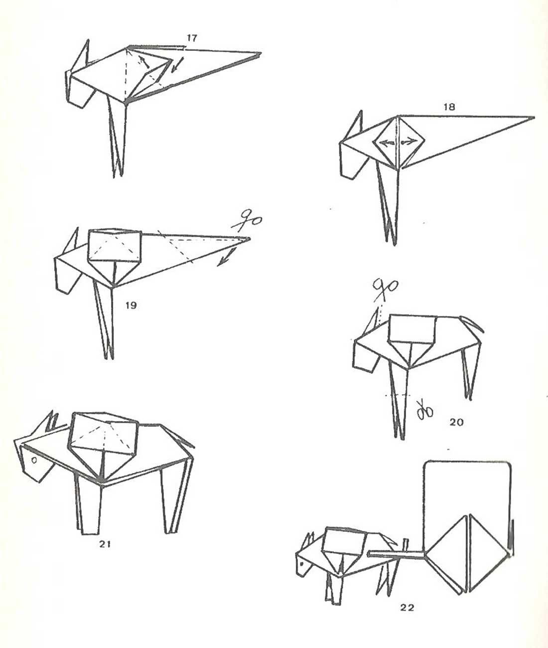 Como hacer un burro o asno con alforjas de origami